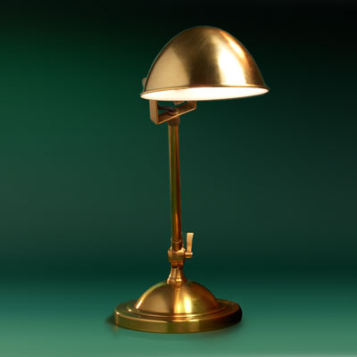 natural brass desk pharmacy lamp