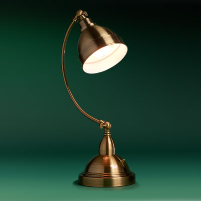 satin-brass finished desk pharmacy lamp