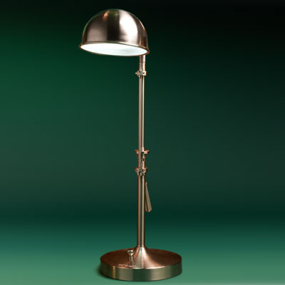 a steel workshop pharmacy lamp