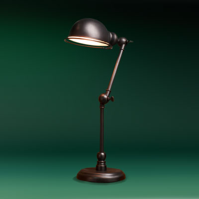 oil-rubbed bronze finish side table pharmacy lamp