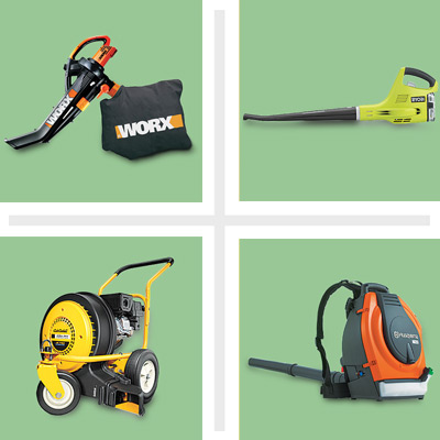 Various Leaf blowers