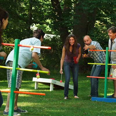 build ladder golf for backyard games