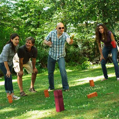 build a kubb or viking chess backyard game