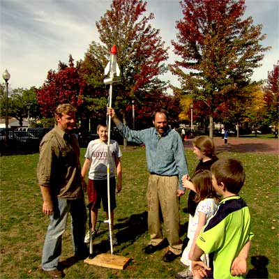 build a water rocket for backyard games