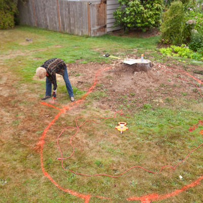 Determining the size and shape of the garden area