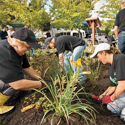 the people who plant rain gardens to help you plan