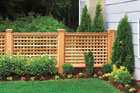 Completed outdoor wood fence