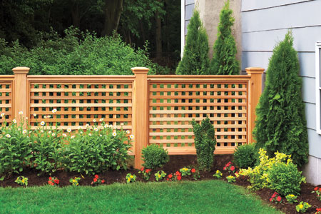 Building Lattice Fence Panel