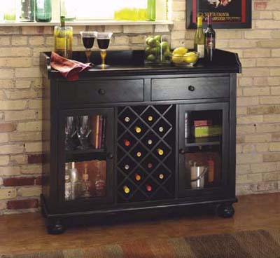 Wine rack buffet from Howard Miller