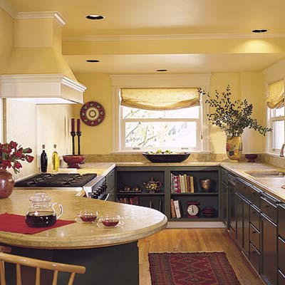 Kitchen on Ceiling Spotlights   Kitchen Lighting Schemes   This Old House