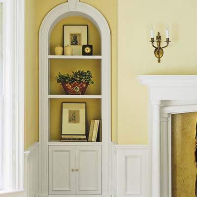 built in fireplace niche