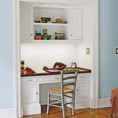 Homework alcove built in storage ideas this old house Built in desk