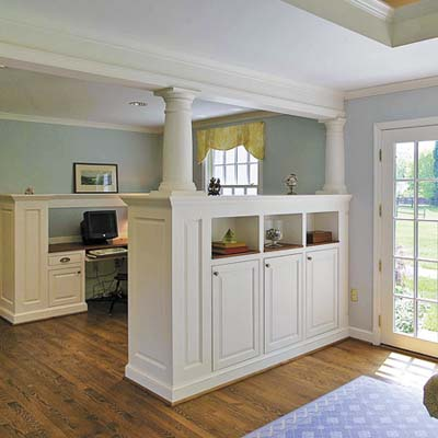 Columned Room Divider  Built-in Storage Ideas  This Old House