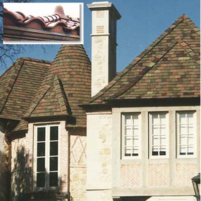 Clay tile fire resistant roofing and siding this old house for Fire resistant house siding material hardboard