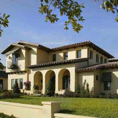 Naturally fire-retardant stucco walls