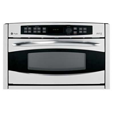 Black and silver wall oven from GE Advantium
