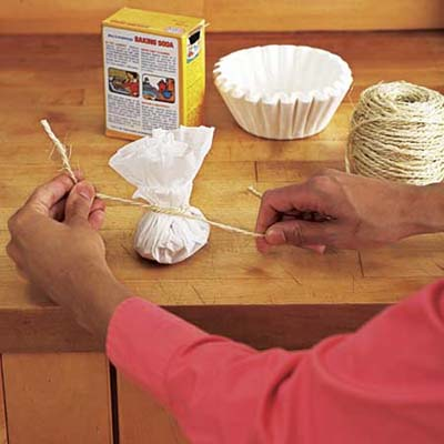 make an air freshner from a coffee filter
