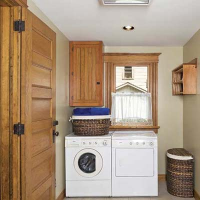 Light-Filled Laundry Room After