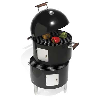 combination smoker, grill, and roaster from hammacher schlemmer