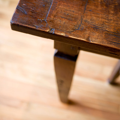 stained wood vintage table