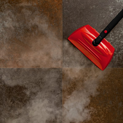 steam cleaner cleaning a floor