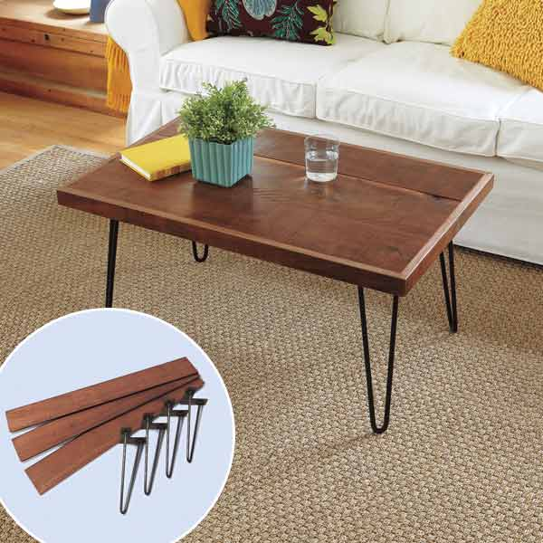 Hairpin-Leg Coffee Table : March's selection from A Year's Worth of Easy Upgrades gallery from this old house