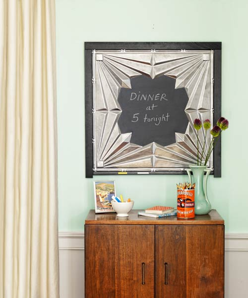 Tin-Tile Chalkboard: April's selection from A Year's Worth of Easy Upgrades gallery from this old house