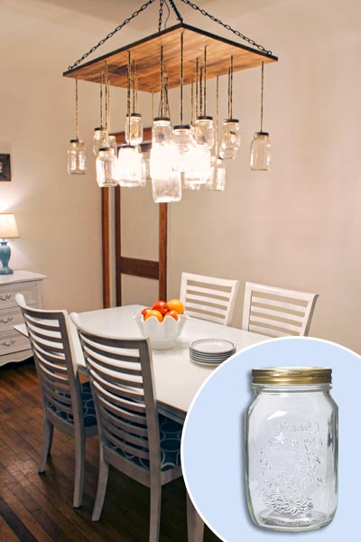 Make a Mason Jar Chandelier