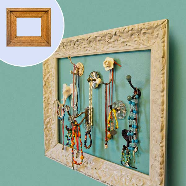 turn a picture frame into a jewelry display July's selection from A Year's Worth of Easy Upgrades gallery from this old house