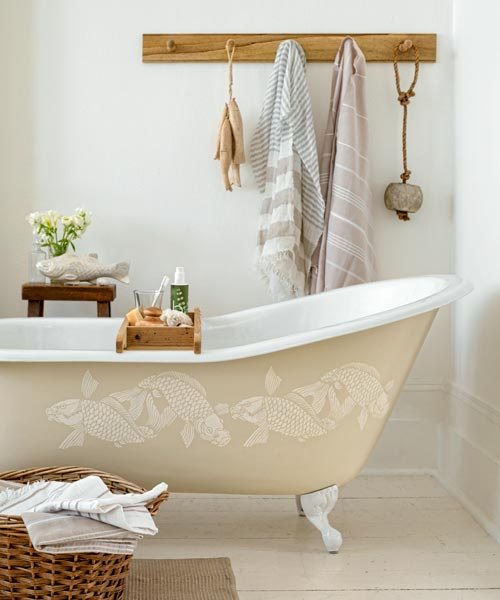 Perk up a Plain Tub: August's selection from A Year's Worth of Easy Upgrades gallery from this old house