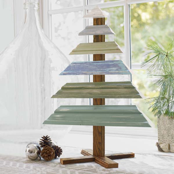 Make a Tree from Trim: December's selection from A Year's Worth of Easy Upgrades gallery from this old house