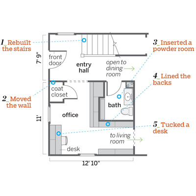 After: Floorplan | From Unused Space to a Home Office Full of ...