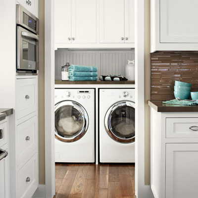 a first floor laundry room