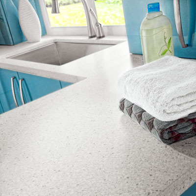 Corian countertop in Silver Birch in a laundry room