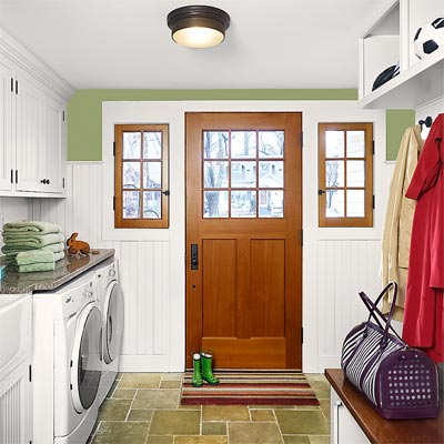 a laundry room and mudroom