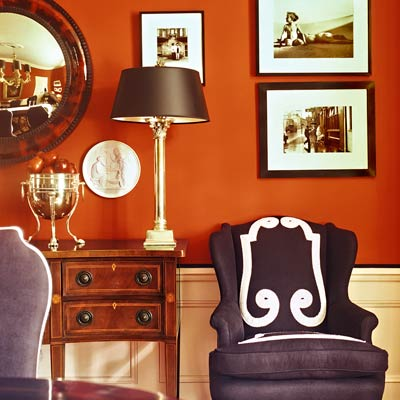 Orange copper the best power paint colors for your rooms - Interior orange paint colors ...
