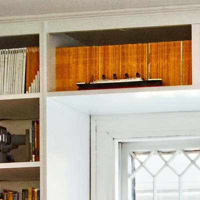 built-in bookshelves