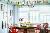 eclectic breakfast nook