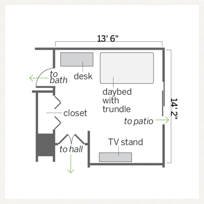 guest bedroom remodel floor plan before 