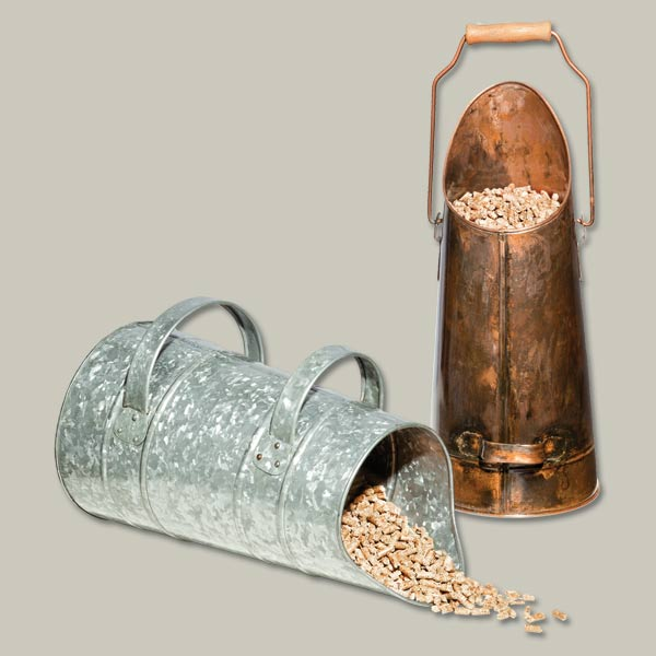 scuttle to keep pellets for pellet stove