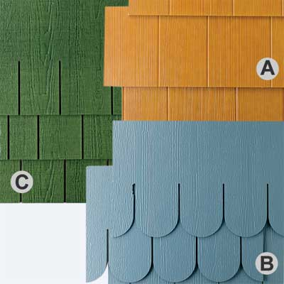 house displaying a range of clapboard sizes using fiber cement siding