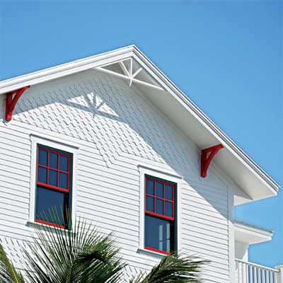 Decorative Shingles made of fiber cement siding