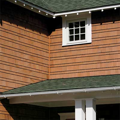 custom Stepped Shingles made of fiber cement siding