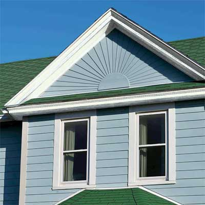 custom sunburst made of fiber cement siding