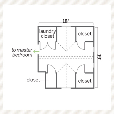 before floor plan of master bath remodel