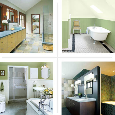 green bathrooms
