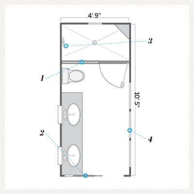 Bathroom floor plans bclskeystrokes Bathroom floor plans