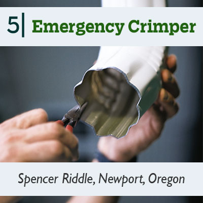 Emergency Crimper tip from the this old house reader remodel issue 2012