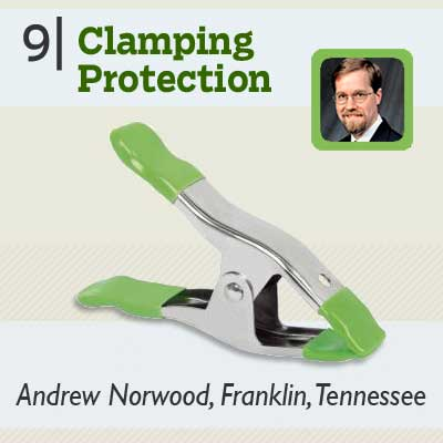 Clamping Protection tip from the this old house reader remodel issue 2012