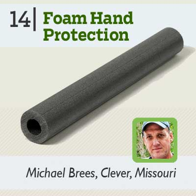 Foam Hand Protection tip from the this old house reader remodel issue 2012
